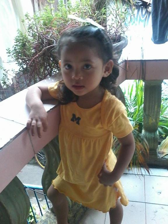 . Briana Villasurda of Cagayan de Oro, Philippines. Photo submitted by Jon Villasurda of Clinton Township