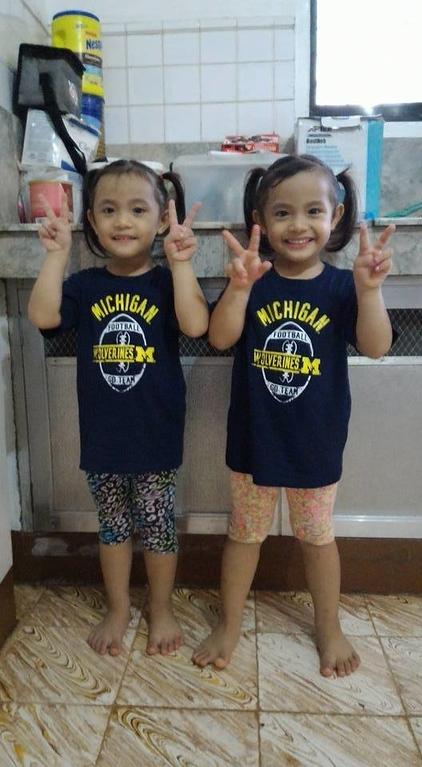 . Twins Alexia and Abrianna Galinato from San Antonio, Texas. Photo submitted by Jon Villasurda of Clinton Township