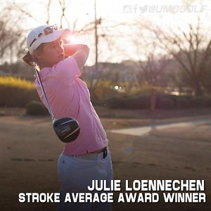 Women - Stroke Average Award Winner 15-16