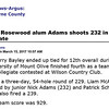 Goldsboro News-Argus | Sports: UMO GOLF: Rosewood alum Adams shoots 232 in Barton Intercollegiate