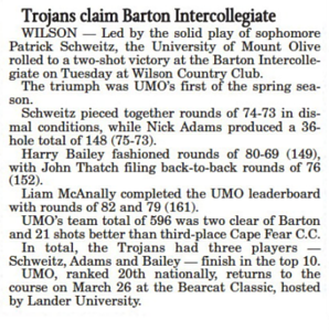 Barton Intercollegiate March 2018