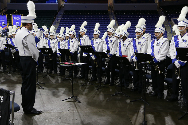 UMass Lowell held it's annual Convocation at the Tsongas Center at UMass Lowell on Wednesday morning to welcome back the new students. The Universities Marching Band was on had a the convocation for all the music. SUN/JOHN LOVE