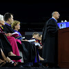UMass Lowell held it's annual Convocation at the Tsongas Center at UMass Lowell on Wednesday morning to welcome back the new students. Associate Vice Chancellor Larry Siegel addresses the students at the convocation. SUN/JOHN LOVE