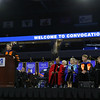 UMass Lowell held it's annual Convocation at the Tsongas Center at UMass Lowell on Wednesday morning to welcome back the new students. Dr. Michael Vayda the Provost addresses the students at the convocation. SUN/JOHN LOVE