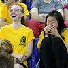 UMass Lowell held it's annual Convocation at the Tsongas Center at UMass Lowell on Wednesday morning to welcome back the new students. Freshmen Ania Burgess of Newbury and Lily Green of Brockton had a good laugh listening to the keynote speaker Cory Ciocchetti. SUN/JOHN LOVE