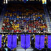 UMass Lowell held it's annual Convocation at the Tsongas Center at UMass Lowell on Wednesday morning to welcome back the new students. The new Students listen to the speakers at the convocation. SUN/JOHN LOVE