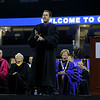 UMass Lowell held it's annual Convocation at the Tsongas Center at UMass Lowell on Wednesday morning to welcome back the new students. Keynote speaker Corey Ciocchetti tells some stories during his talk at the convocation. SUN/JOHN LOVE