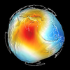 The geoid, a surface of constant gravity.  (Image/Stuart Wier, UNAVCO)