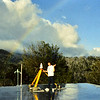GPS tripod on roof, Tonie Van Dam