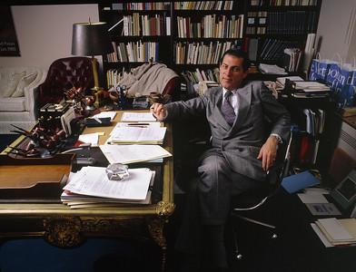 USA. New York City. 1986. Philippe de MONTEBELLO, director of Metropolitan Museum of Art.