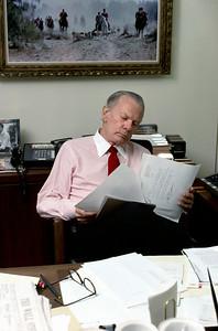 USA. Washington, D.C. 1988. David BRINKLEY, U.S. television news pioneer.