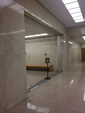 Courthouse hallway