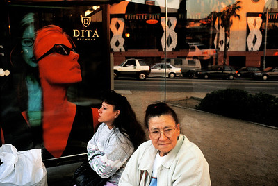 USA. California. Hollywood. 1999. Billboards in the heart of West Hollywood/ Sunset Strip/ Sunset Plaza.
