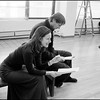 USA. NYC. 2001. Actors Laura Linney and Liam Neeson during the rehearsal of The Crucible at the Virginia Theater.