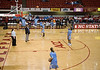 Some of the Carolina players were practicing--on the NC State side.  Time 12:04
