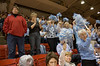 Not everyone in our section appreciated the Tar Heels.