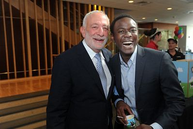 Ron Strauss, executive vice provost and chief international officer, and Bradley Opere '17, UNC-Chapel Hill student body president, at the 2016 International Welcome Social.   Photo by Donn Young
