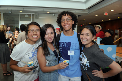 EASE mentors enjoy spending time together at the 2016 International Student Welcome Social.   Photo by Donn Young