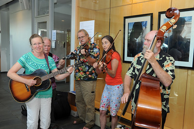 The Blue Star Travelers, an old-time Appalachian string band, perform at the event.   Photo by Donn Young
