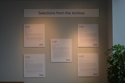 Selected interviews of Latin American immigrants in North Carolina from the New Roots/Nuevas Raíces project were highlighted in the Migration Narratives exhibition.   Photo by Janna Childers '18