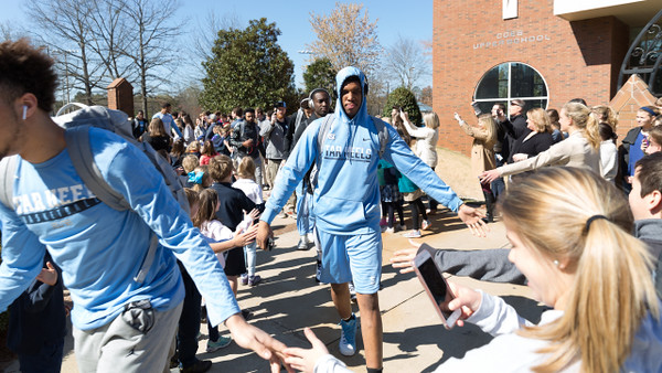 UNC Basketball Visits CCES