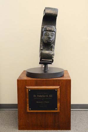Pre-Colombian stone sculpture honoring Federico Gil  Stone  Gift of Bernard J. Flatow
