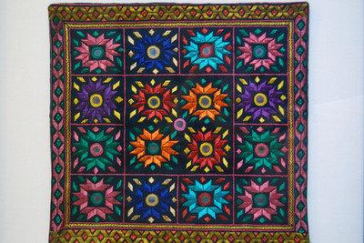 Hand-embroidered pillow cover - Artist unknown, Afghanistan  Fabric  Gift of Neal Johnson