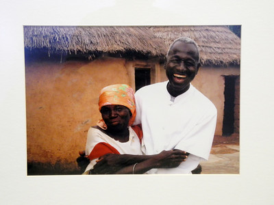 Dr. David Abdulai with Patient - David Swanson  Photo print  Gift of artist David Swanson