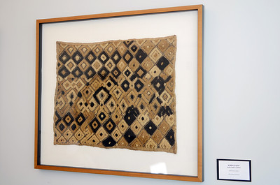 Kuba Cloth - Kuba tribe, Congo  Raffia cloth  Gift of Neal Johnson
