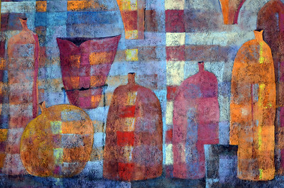 Mexican Pots - Daniel Wolf  Oil on canvas