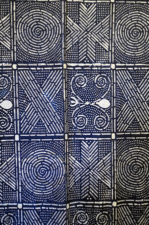 Untitled - West African artisan  Acrylic on indigo  Gift of Roberta Ann Dunbar