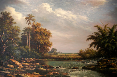 Paisaje Cubano - Alfredo Rodríguez Cedeño  Oil on canvas - 2004  Gift of Clyde, Brigid, and Marina Hensley