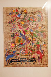 Gouache on bark - Artist unknown, Guatemala  Gouache on bark  Gift of Neal Johnson