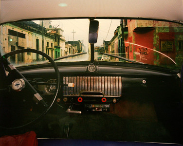 San Anastasio and Concepción, Lawton, Looking North from Félix Rodríguez López's 1952 Chevrolet, Havana - Alex Harris  Photo print - 1998  Gift of Charles Weinraub