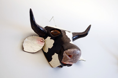 Cow Head Carving