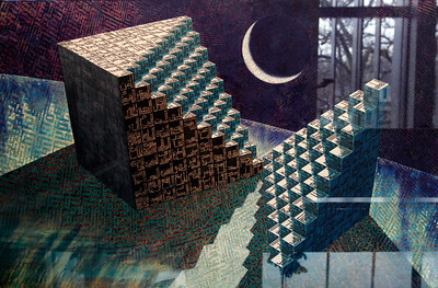 Transcendental Mansions of the Moon (2 of 25) - Ahmed Moustafa  Iris print - 2008  On loan from the collection of Judith and Carl Ernst