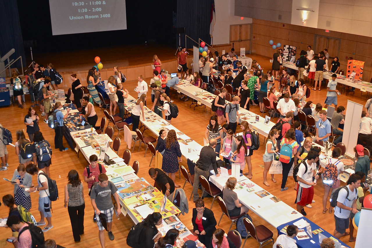 The 2012 Study Abroad Fair in the Great Hall.