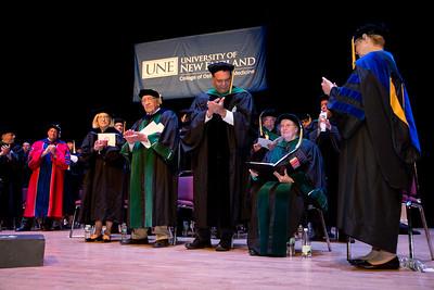 University of New England College of Osteopathic Medicine Hooding Ceremony at Merrill Auditorium, Portland Maine 5.21.16