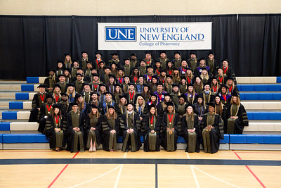 University of New England College of Pharmacy Hooding Ceremony at WPAC, Westbrook, Maine 5.21.17