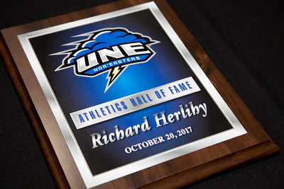 UNE Hall of Fame (HOF) with President James Herbert, Friday 10.20.17 held in the Alfond Forum at the Biddeford, Maine Campus of UNE.