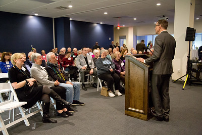UNE Neighbors Event on the Biddeford Campus with President James Herbert, held at the Alfond Forum on 12.8.17 on the Biddeford, Maine Campus of UNE