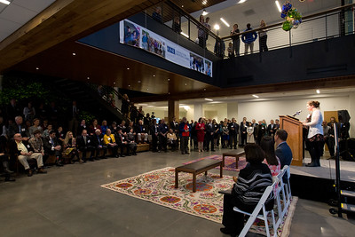 Dedication of the Danielle N. Ripich Commons on the Biddeford Campus of the UNE, University of New England 3.9.18, Biddeford, Maine.