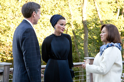 George and Barbara Bush Distinguished Lecture Series - September 19th 2013.  Her Highness Sheikha bint Nasser received the George Bush award for excellence in Public Service at the University of New England in Biddeford, ME.  UNE