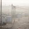Jordan. Overview of Za'atari refugee camp.