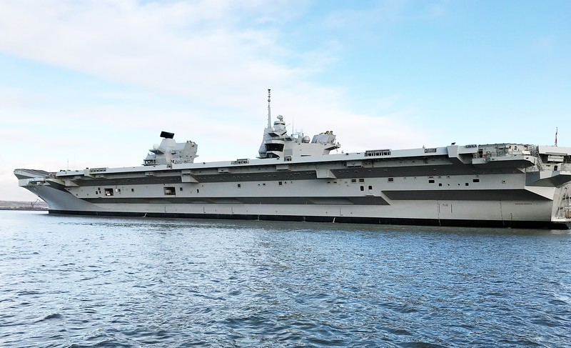 Britains new carrier.  HMS Queen Elizabeth