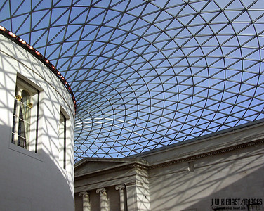 Covered Courtyard at British Museum near the Reading Room.