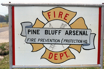 PINE BLUFF ARSENAL FD AR  STATION SIGN
