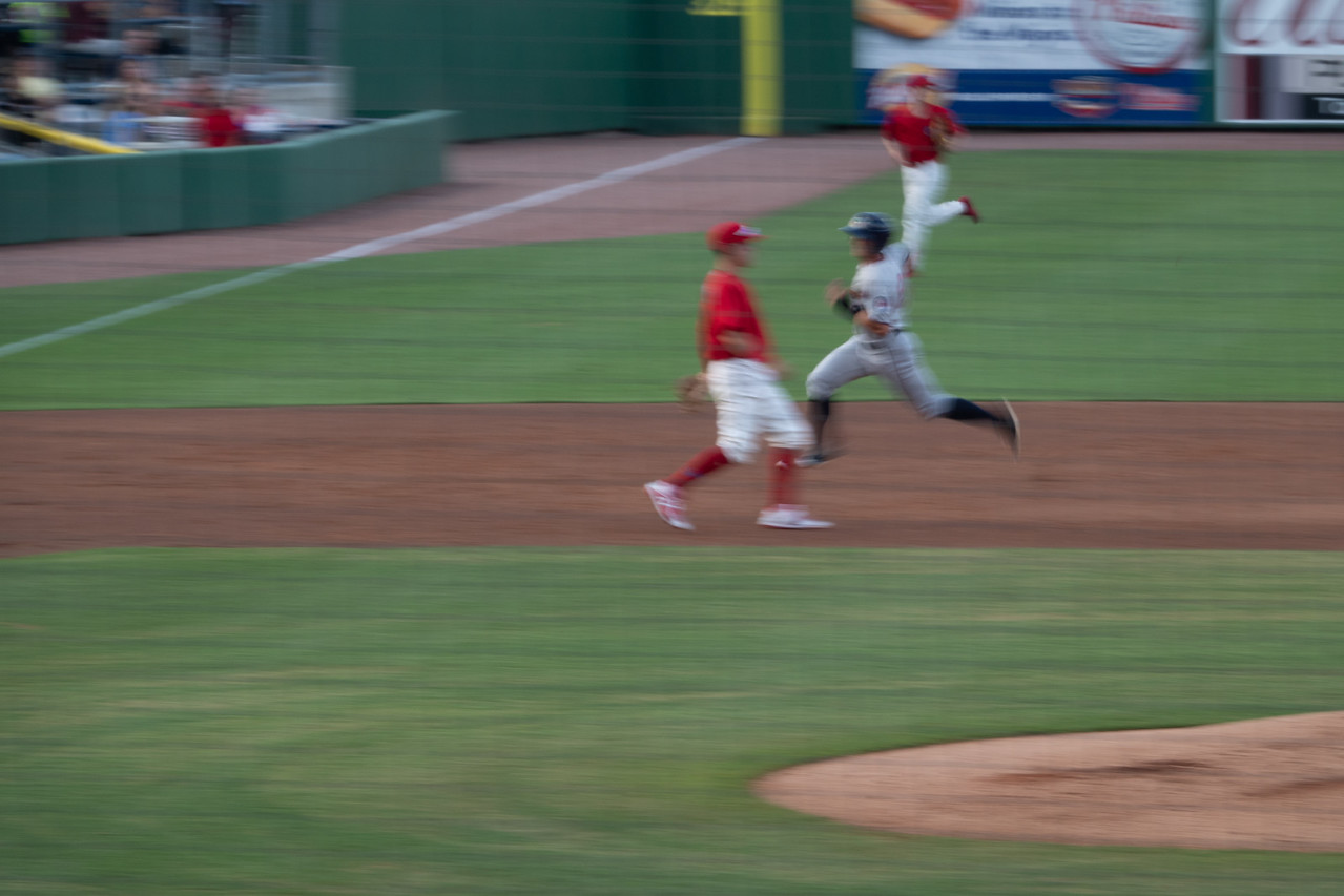 Running to 3rd. base