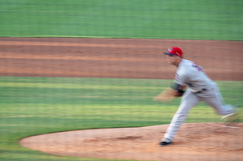 Pitcher in action