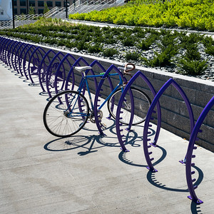 Bicycle parking rack, Minneapolis, Hennepin County, Minnesota, USA